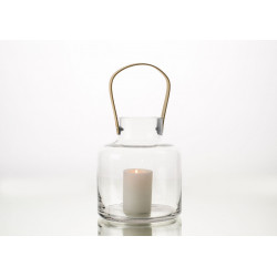 Lanterne en verre malo h23 cm