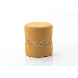 Tabouret à cannage moutarde...