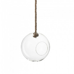 Terrarium boule verre/corde...