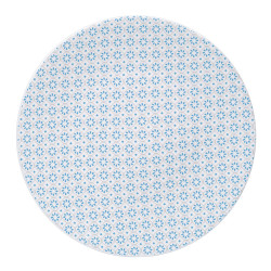 Plat rond 30 cm sintra bleu