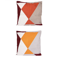 Coussin quadri orange 45 cm...