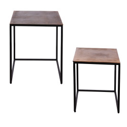 Set de 2 tables 46 et 38 cm...