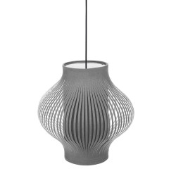 Suspension en tissu 31 cm gris