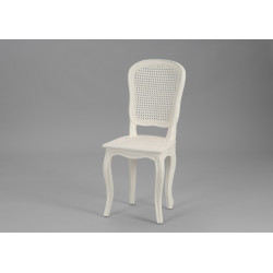 Chaise cannée Murano blanc