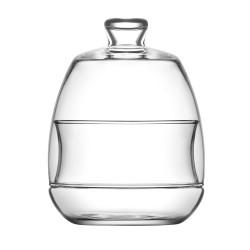 Horloge noire miroir 20x20 cm